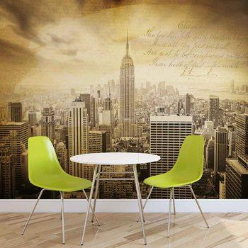 Ταπετσαρία τοιχογραφία City New York Vintage Sepia