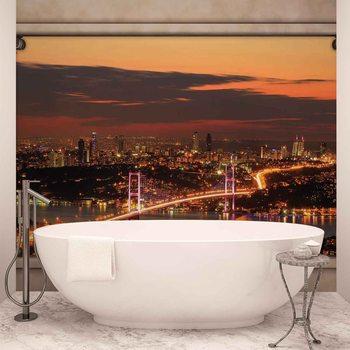 Ταπετσαρία τοιχογραφία City Skyline View Istanbul