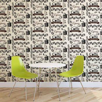 Ταπετσαρία τοιχογραφία Coffee Pattern
