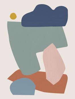 Ταπετσαρία τοιχογραφία Collage Pastel I