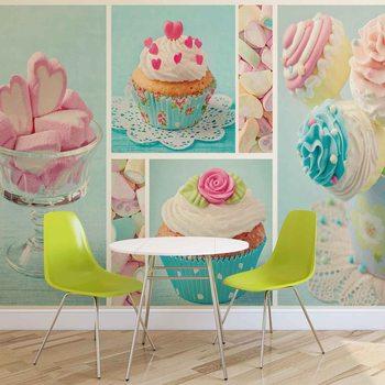 Ταπετσαρία τοιχογραφία Cupcakes