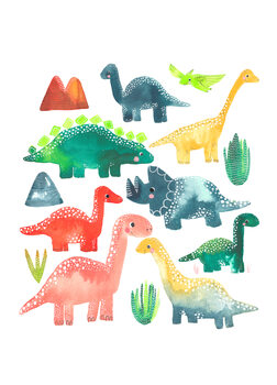 Ταπετσαρία τοιχογραφία Dinosaur