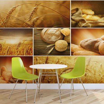 Ταπετσαρία τοιχογραφία Essen Brot Weizen
