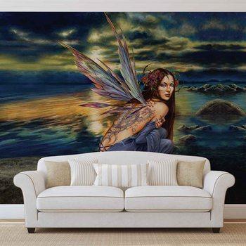 Ταπετσαρία τοιχογραφία Fairy Sea Flowers Wings