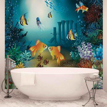 Ταπετσαρία τοιχογραφία Fishes Corals Sea