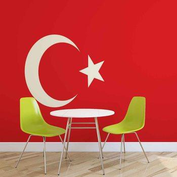 Ταπετσαρία τοιχογραφία Flag Turkey