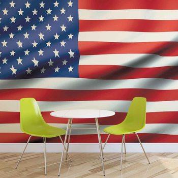 Ταπετσαρία τοιχογραφία Flag United States USA