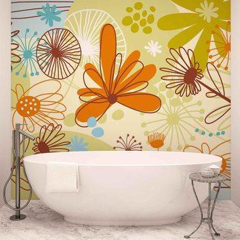 Ταπετσαρία τοιχογραφία Floral Pattern