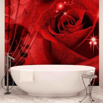 Ταπετσαρία τοιχογραφία Flower Rose Abstract
