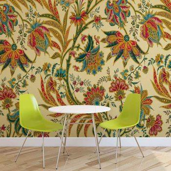 Ταπετσαρία τοιχογραφία Flowers Plants Pattern Vintage