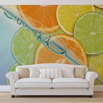 Ταπετσαρία τοιχογραφία Food Fruits Lime Orange Lemon