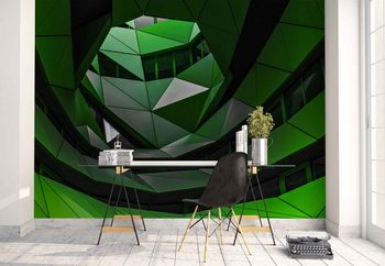 Ταπετσαρία τοιχογραφία Green Offices