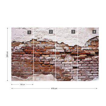 Ταπετσαρία τοιχογραφία Grunge Brick Wall