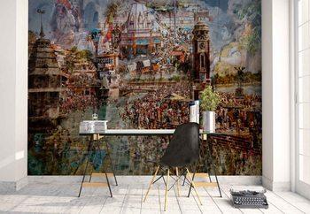 Ταπετσαρία τοιχογραφία Holy India
