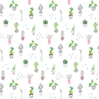 Ταπετσαρία τοιχογραφία Houseplants and cacti