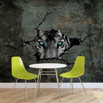 Ταπετσαρία τοιχογραφία Jaguar Leopard 3D