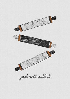 Ταπετσαρία τοιχογραφία Just Roll With It