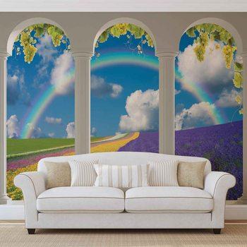 Ταπετσαρία τοιχογραφία Lavendar Field Nature Arches