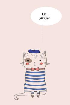 Ταπετσαρία τοιχογραφία Le Meow
