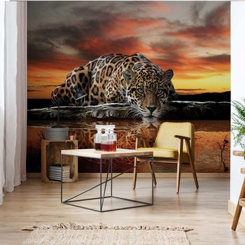 Ταπετσαρία τοιχογραφία Leopard