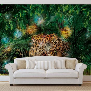 Ταπετσαρία τοιχογραφία Leopard In Jungle