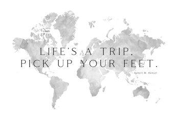 Ταπετσαρία τοιχογραφία Life's a trip world map