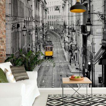 Ταπετσαρία τοιχογραφία Lisbon Black And White