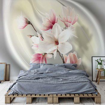 Ταπετσαρία τοιχογραφία Magnolia Modern Floral Design Yellow