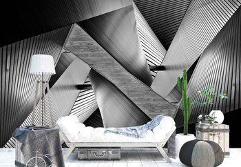 Ταπετσαρία τοιχογραφία Metal Origami