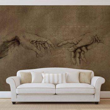 Ταπετσαρία τοιχογραφία Michaelangelo Creation of Adam