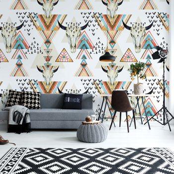 Ταπετσαρία τοιχογραφία Modern Boho Chic Pattern