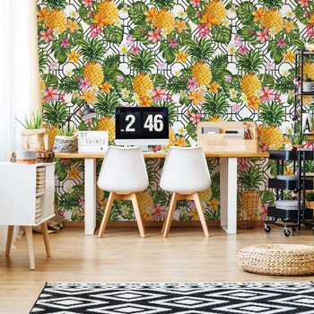 Ταπετσαρία τοιχογραφία Modern Tropical Pattern