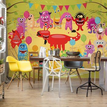 Ταπετσαρία τοιχογραφία Monsters Party