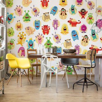Ταπετσαρία τοιχογραφία Monsters Pattern
