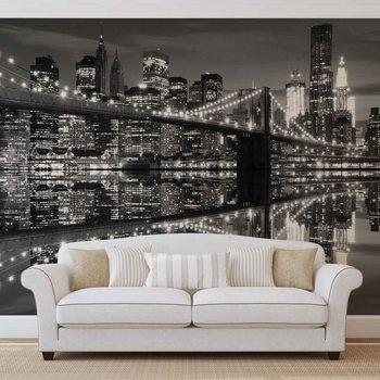 Ταπετσαρία τοιχογραφία New York City Skyline Brooklyn Bridge