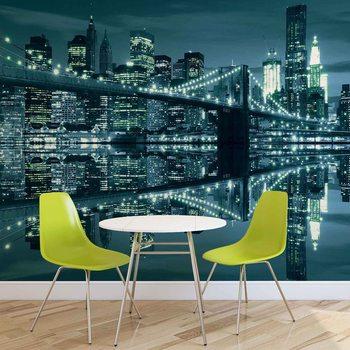 Ταπετσαρία τοιχογραφία New York  Skyline Brooklyn Bridge
