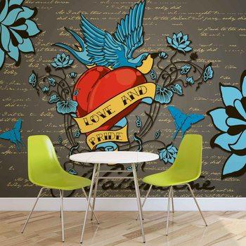 Ταπετσαρία τοιχογραφία Old School Valentine Tattoo