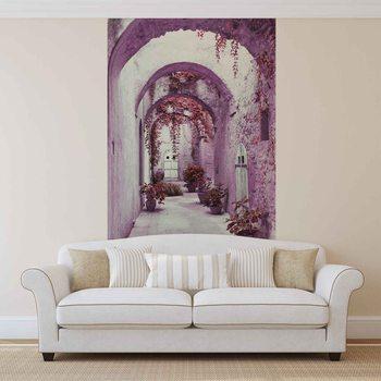 Ταπετσαρία τοιχογραφία Passage Flowers Pink