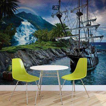 Ταπετσαρία τοιχογραφία Pirate Sailing Ship