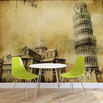 Ταπετσαρία τοιχογραφία Pisa Leaning Tower