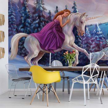 Ταπετσαρία τοιχογραφία Princess Unicorn