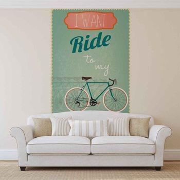 Ταπετσαρία τοιχογραφία Racing Bicycle Retro