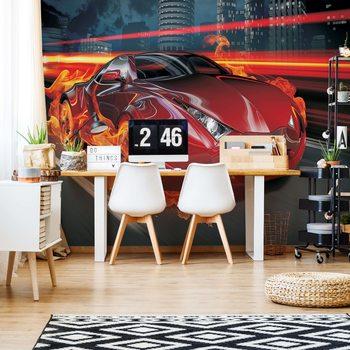 Ταπετσαρία τοιχογραφία Red Car