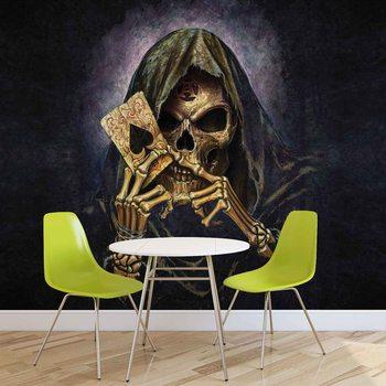 Ταπετσαρία τοιχογραφία Skull Death Ace Alchemy
