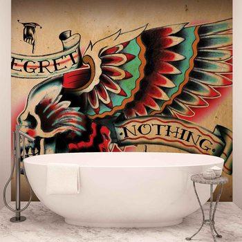 Ταπετσαρία τοιχογραφία Skull Tattoo Wing