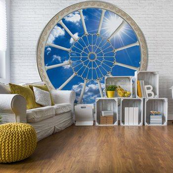 Ταπετσαρία τοιχογραφία Sky Ornamental Window View