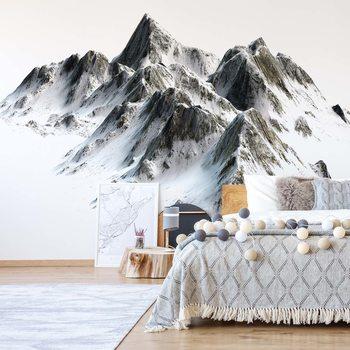 Ταπετσαρία τοιχογραφία Snowy Mountain