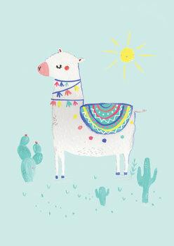 Ταπετσαρία τοιχογραφία Sunshine llama