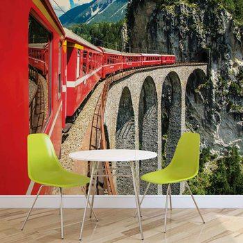 Ταπετσαρία τοιχογραφία Train Through The Mountains
