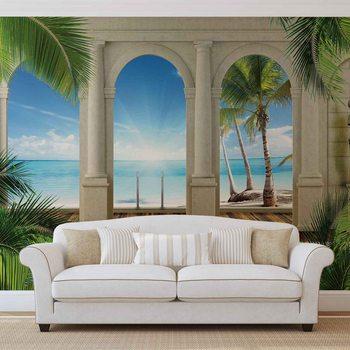 Ταπετσαρία τοιχογραφία Tropical Beach